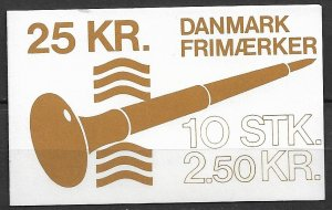1983 Denmark 737 Steel Plate Printed Stamps complete booklet of 10 MNH