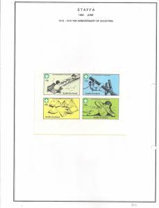 SCOTLAND - STAFFA - 1982 - Scouts, 75th Anniv - Imperf 4v Sheet - MLH