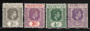 Mauritius # 211-14 ~ Set of 4 ~ Unused, HMR, MX