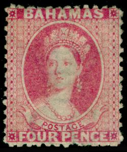 BAHAMAS SG26, 4d Bright Rose, M MINT. Cat £300.