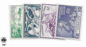 Nyasaland #87-90 MH - Stamp - CAT VALUE $4.05