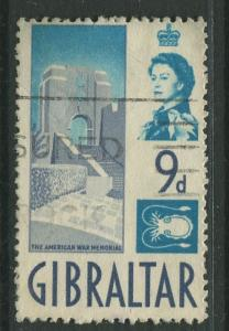 Gibraltar - Scott 155 - QEII Definitive Issue -1960- Used - Single 9d Stamp