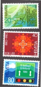 SWEDEN 691-693 MNH SCV $2.15 BIN $1.30 TRAVEL