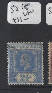 GILBERT AND ELLICE ISLANDS (P1804B)  KGV 2 1/2D  SG 15     VFU