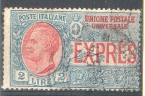 1908  ITALY  - SG:E180 - 2 LIRE  EXPRESS LETTER STAMP  USED