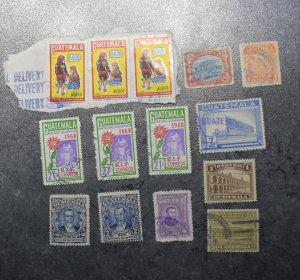 GUATEMALA Stamps coms postal tax  1902 --74  ~~L@@K~~