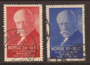 Norway  #  B  7 - 8  used