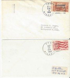 US Naval Cover USS Wilhoite DE 397  1955 & 1962
