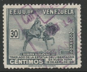 Venezuela 1951 30c used South America A4P53F72