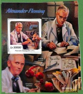 A2511 -SIERRA LEONE -ERROR: MISPERF Souvenir s -2019 Fleming Medicine, Mushrooms