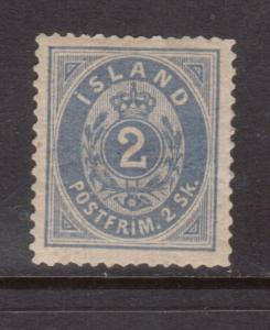 Iceland #1 Very Fine Mint Full Original Gum Hinged **With Certificate**