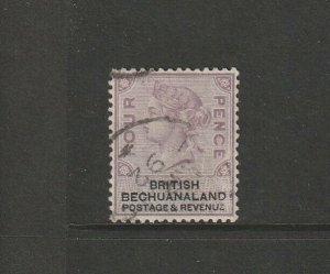 Bechuanaland 1888 QV Defs  4d FU SG 13