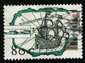 Discovery of land, Ship, Nederland, 80 cents (T-6382)