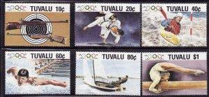 Tuvalu-Sc#501-6- id7-unused NH set-Sports-Summer olympics-Seoul-1988-