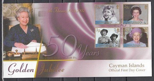 Cayman Is., Scott cat. 844-847. Queen Elizabeth as Guide issue. First Day Cover.
