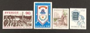 Sweden 1979 #1291-4, Various Designs, MNH