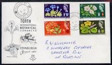 Great Britain 1964 Botanical (ord) set of 4 on illustrate...