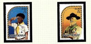 Montserrat 487-88 MNH 1982 Boy Scouts