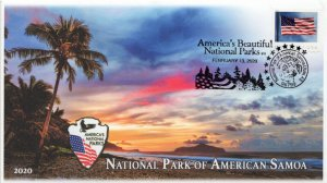 20-059, 2020, National Park of American Samoa, Pictorial Postmark, Event Cover,