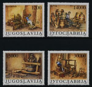 Yugoslavia 1991-4 MNH Museum Exhibits, Cooper, Weaver, Winegrower