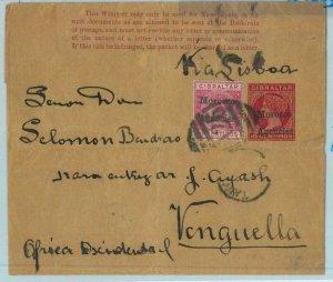 BK0255 - MOROCCO AGENCIES - POSTAL HISTORY: WRAPPER to ANGOLA Benguella 1890's