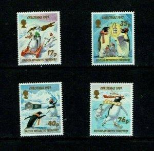 British Antarctic Territory: 1997 Christmas, Penguins, MNH set
