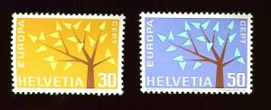 Switzerland 416-17  Europa Cept 1962 MNH