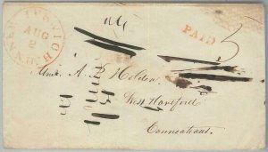 72336  - UNITED STATES USA - PREPHILATELIC Cover: New Ipswich, NH 1800's - PAID
