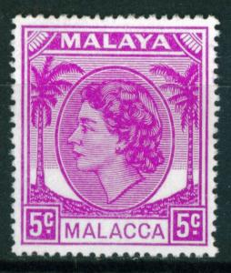 Malaya - Malacca 5c QEII issue of 1954, Scott 32, MNH