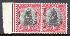 South West Africa - Scott #86e - MH - Small thin on right stamp - SCV $3.50
