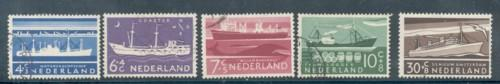 Netherlands Sc B306-0 1957 Charity Ships stamp set used