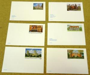 Building Collection of 19c Stamp USA Postcards 15qty