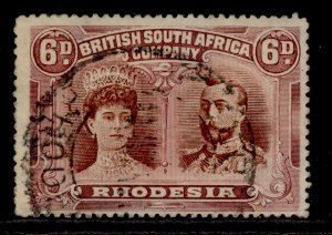 RHODESIA SG176, 6d brown and mauve, FINE USED. Cat £60.