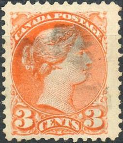Canada #37 3c Queen Victoria Used