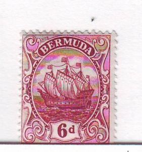 Bermuda Sc 47 1924 6d claret Caravel stamp mint