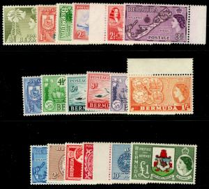 BERMUDA SG135-150, COMPLETE SET, NH MINT. Cat £130.