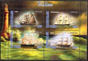 Chad 2013 Sailing Ships Boats (2) MNH Cinderella !