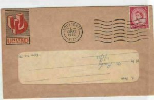 united daires 1963 perfined stamp cover  ref r14573