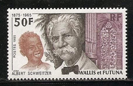 Wallis and Futuna Islands 330 1985 Schweitzer single MNH