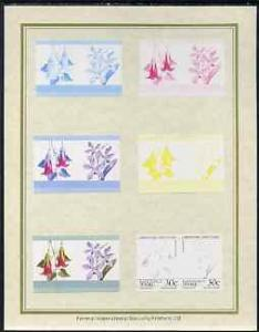 Tuvalu - Nanumaga 1985 Flowers (Leaders of the World) 30c...