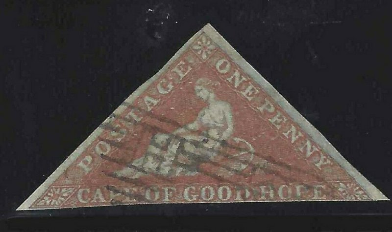 Cape of Good Hope 1853 SC 1 Used SCV $400.00