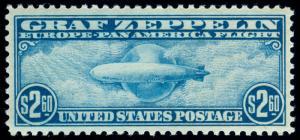 MOMEN: US STAMPS #C15 MINT OG NH GRAF ZEPPELIN XF