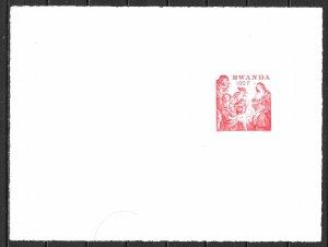 Rwanda 848 1977 Christmas Card Proof (z1)