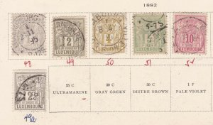 LUXEMBOURG ^^^^^1882  used   CLASSICS on page $$@ lar 2639lux