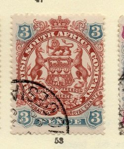 Rhodesia 1898 Early Issue Fine Used 3d. NW-170430