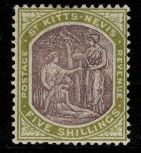ST.KITTS-NEVIS SG10 1903 5/= DULL PURPLE & SAGE-GREEN MTD MINT