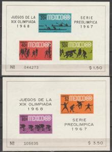 Mexico #983a, 985a MNH F-VF CV $12.00 (SU5243L)