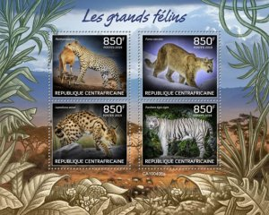 C A R - 2019 - Big Cats - Perf 4v Sheet - MNH