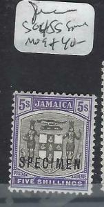 JAMAICA   (P3103B)   ARMS 5/-  SG 45S  SPECIMEN    MOG