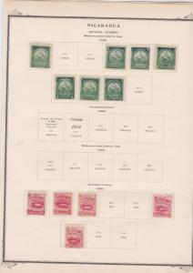 nicaragua 1895 official stamps on page ref r9133